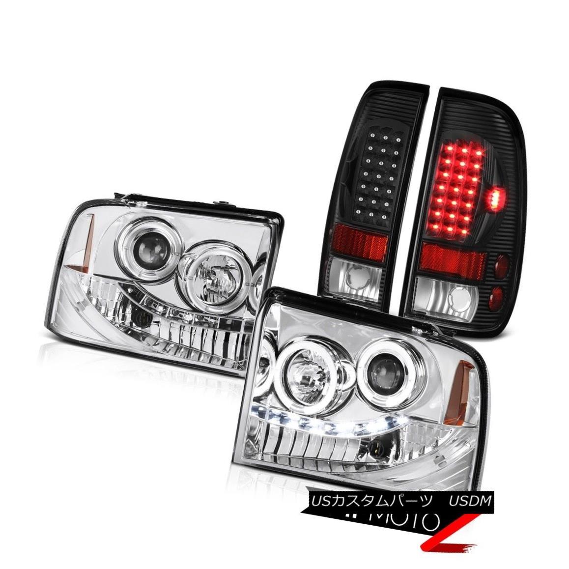 テールライト Euro Halo LED Headlights Black