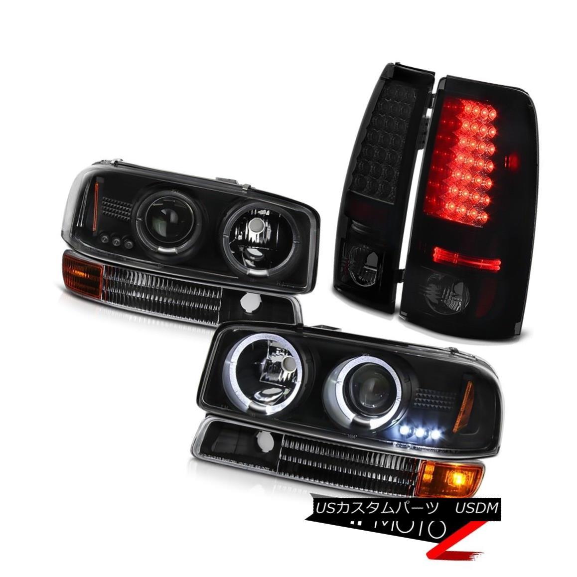 テールライト 04-06 Sierra 3500HD Twin Halo Headlamps Infinity Black Parking Bright Taillamp 04-06シエラ3500HDツインハローヘッドランプインフィニティブラックパーキングブライトタイランプ