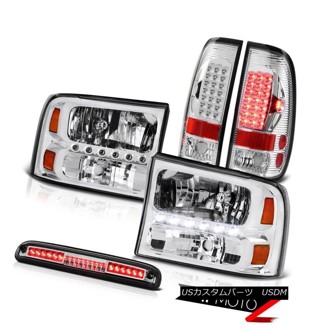 テールライト Factory Style Headlights LED Taillamp Chrome 3rd Brake 99 00 01 02 03 04 F250 ファクトリースタイルのヘッドライトLEDテールランプクローム第3ブレーキ99 00 01 02 03 04 F250