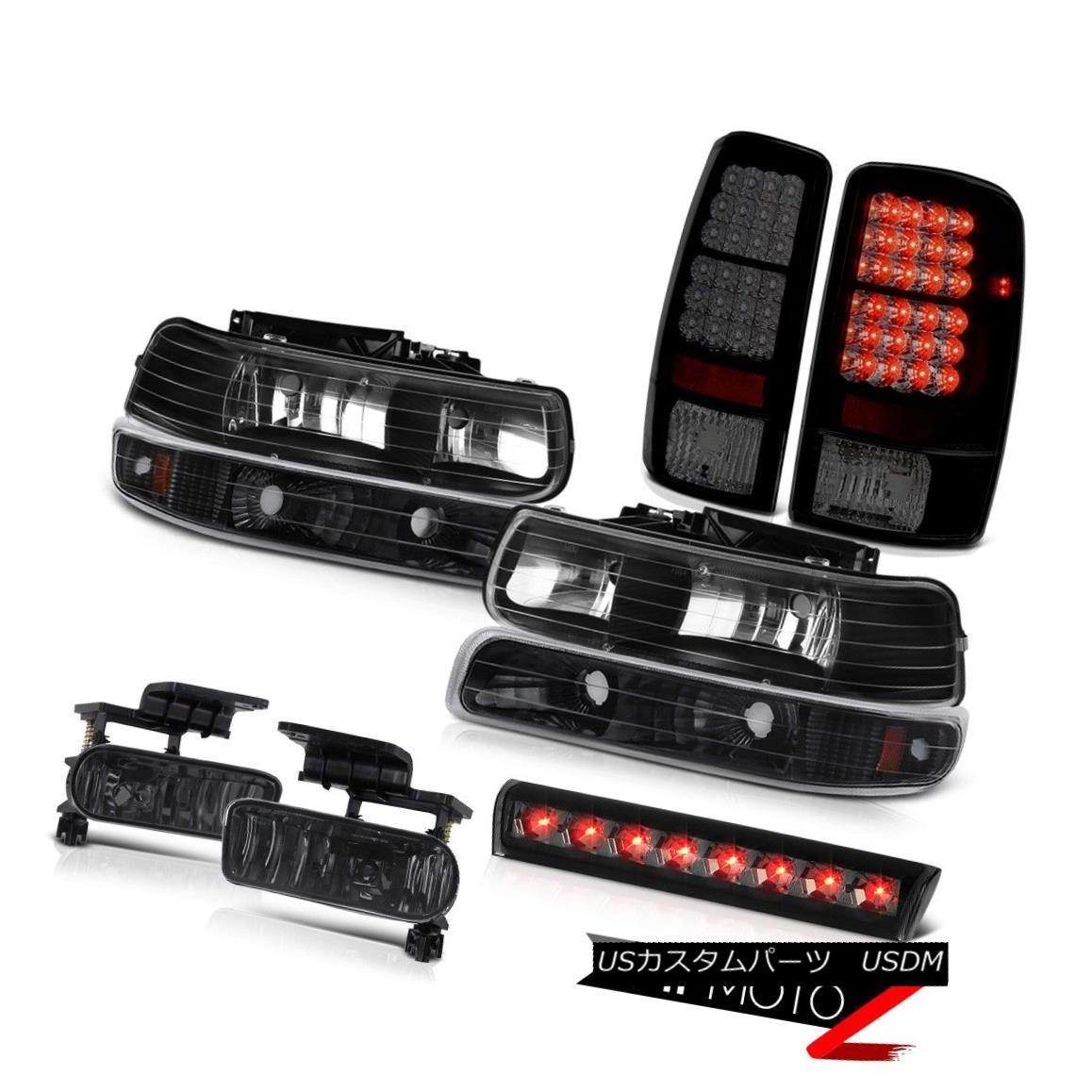 テールライト 00-06 Chevy Suburban LS Smokey third brake light fog lamps tail black Headlights 00-06シボレー郊外LSスモーキー第3ブレーキライトフォグランプテールブラックヘッドライト
