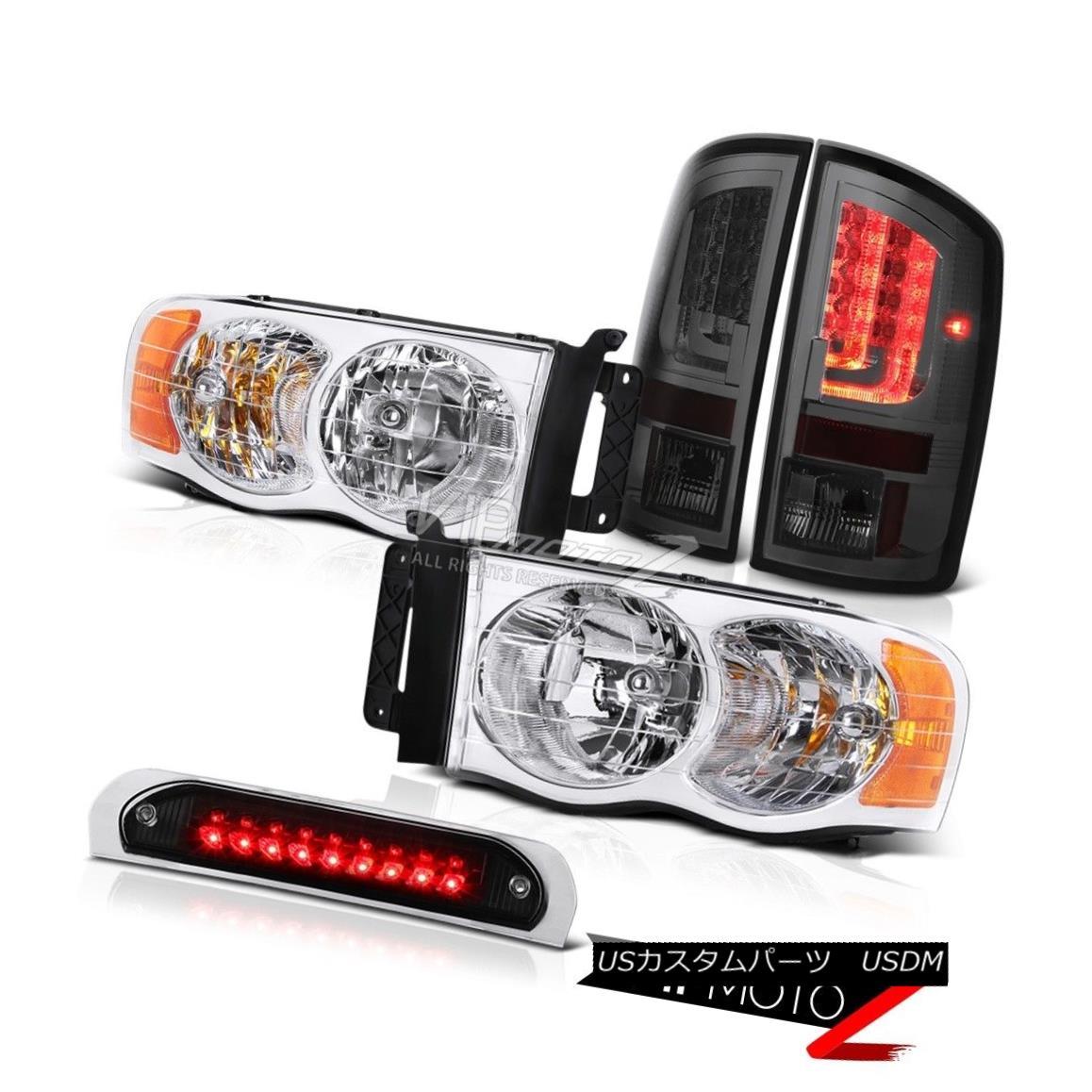 テールライト 02-05 Ram 1500 2500 3500 ST Tail Lamps Matte Black Roof Brake Lamp Headlights 02-05 Ram 1500 2500 3500 STテールランプマットブラックルーフブレーキランプヘッドライト