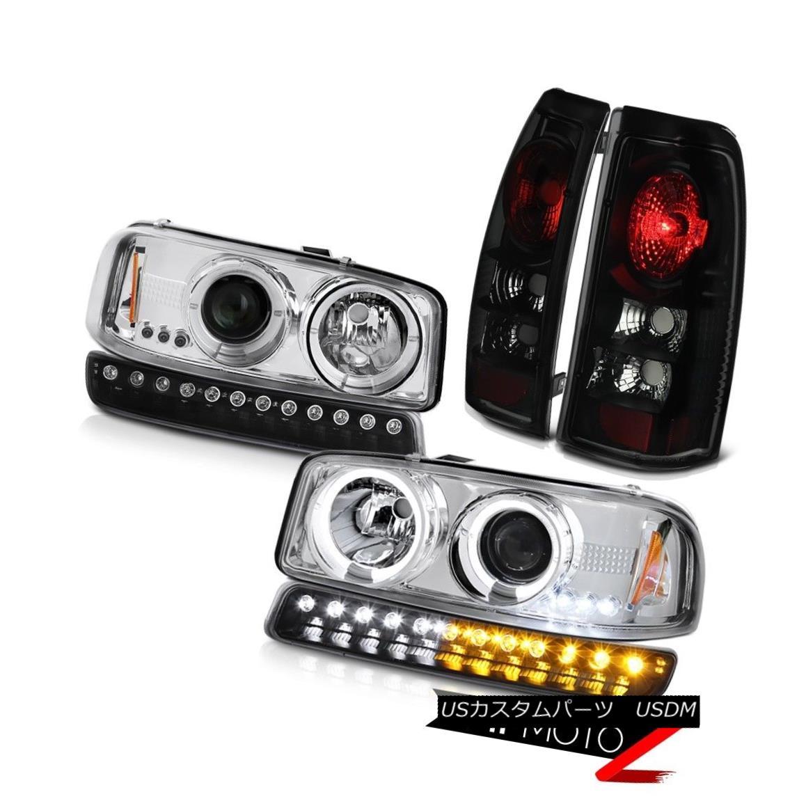 テールライト 99 00 01 02 Sierra 5.3L Rear brake lights inky black signal lamp headlights LED 99 00 01 02 Sierra 5.3Lリアブレーキライト黒色の信号ランプヘッドライトLED