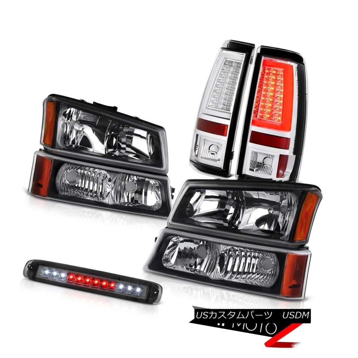 テールライト 03-06 Silverado Taillamps Third Brake Light Bumper Lamp Headlamps Tron Tube LED 03-06 Silverado Taillamps第3ブレーキライトバンパーランプヘッドランプトロンチューブLED