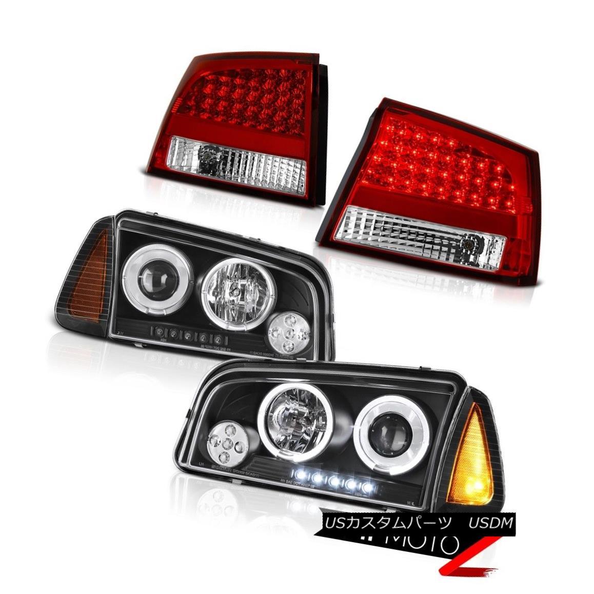 テールライト 2006 2007 2008 Charger RT Red tail lamps black parking light headlights LED SMD 2006年2007年2008充電器RT赤いテールランプ黒色の駐車ライトヘッドライトLED SMD