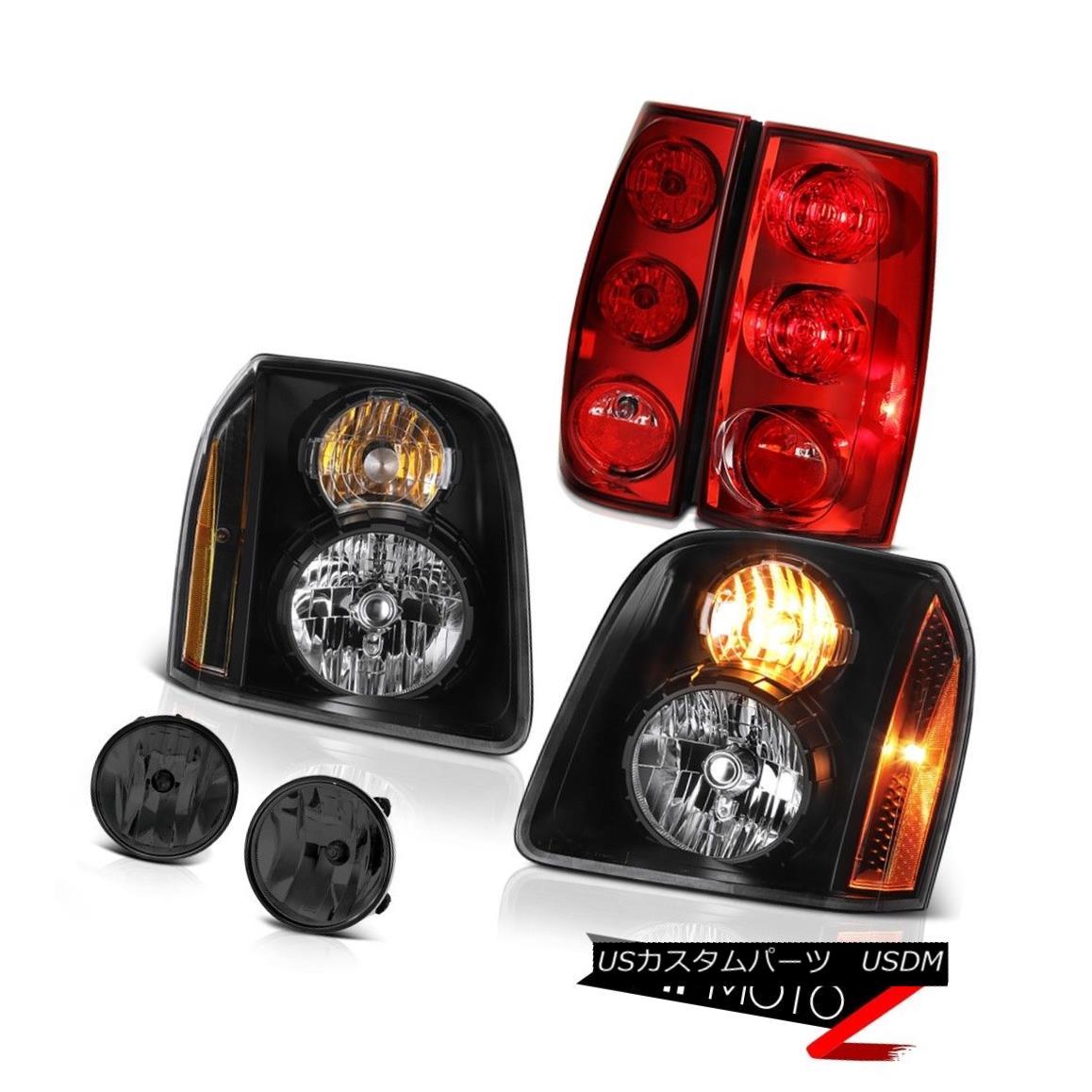 テールライト 07-14 GMC Yukon SLT Phantom Smoke Foglamps Tail Lights Black Headlamps OE Style 07-14 GMCユーコンSLTファントムスモークフォグランプテールライトブラックヘッドランプOEスタイル