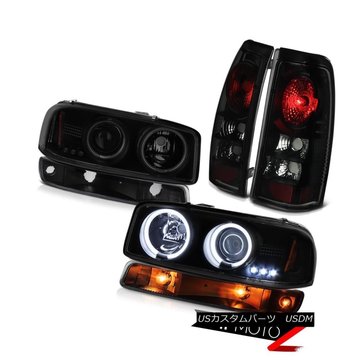 テールライト 99 00 01 02 Sierra 2500 Rear brake lights raven black signal lamp ccfl headlamps 99 00 01 02 Sierra 2500リアブレーキライトレーブンブラックシグナルランプccflヘッドライト