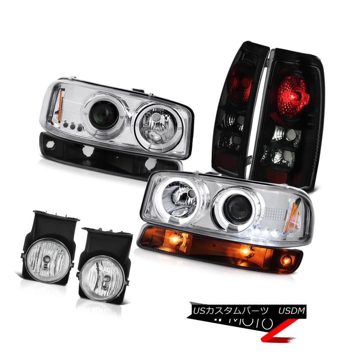 テールライト 2003-2006 GMC Sierra Fog lamps taillights turn signal headlights LED Dual Halo 2003-2006 GMC Sierra Fogランプテールランプ信号ヘッドライトを点灯LED Dual Halo