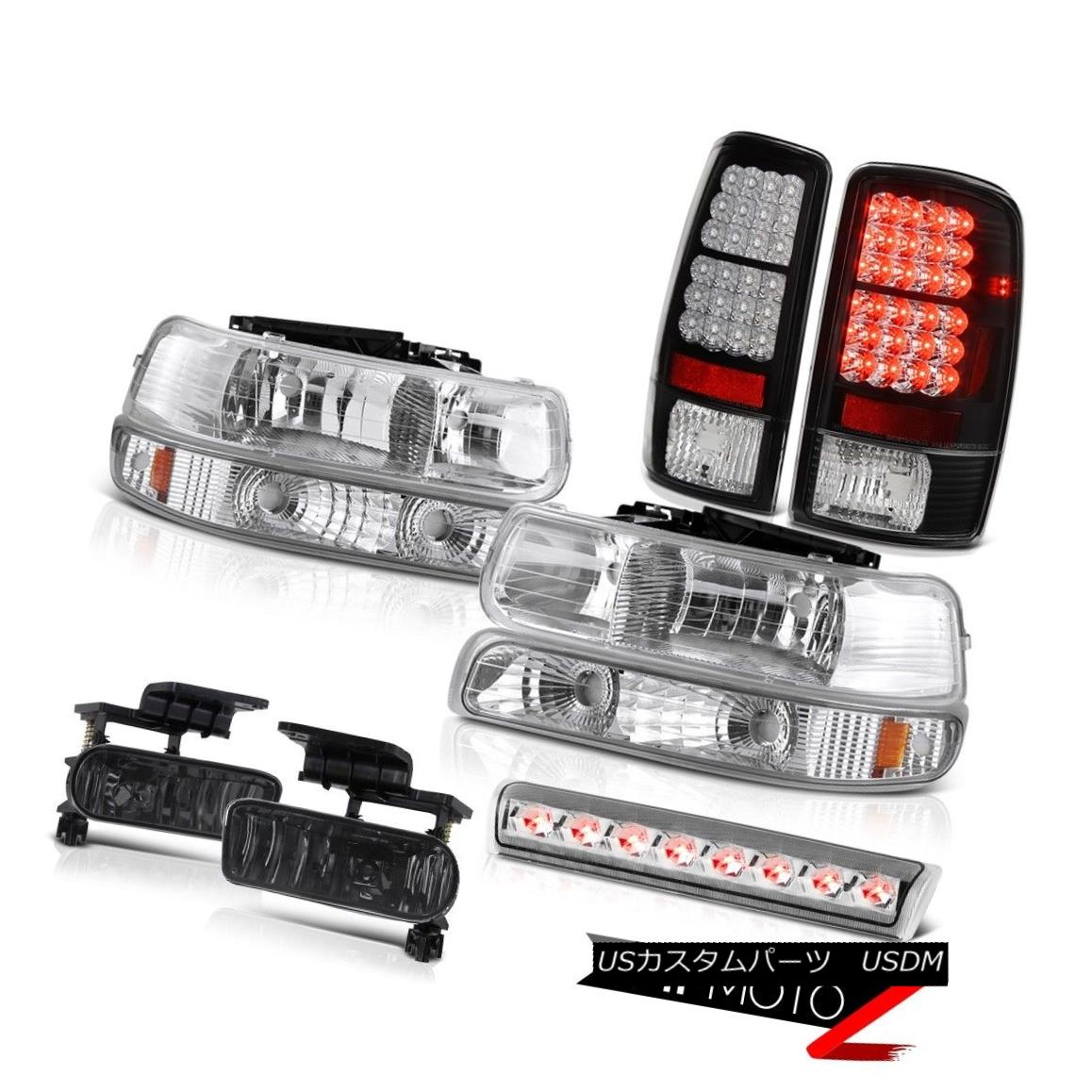 テールライト 2000-2006 Chevy Tahoe LT Headlights black rear brake lights fog roof cab Light 2000-2006 Chevy Tahoe LTヘッドライトブラックリアブレーキライトフォグルーフキャブライト