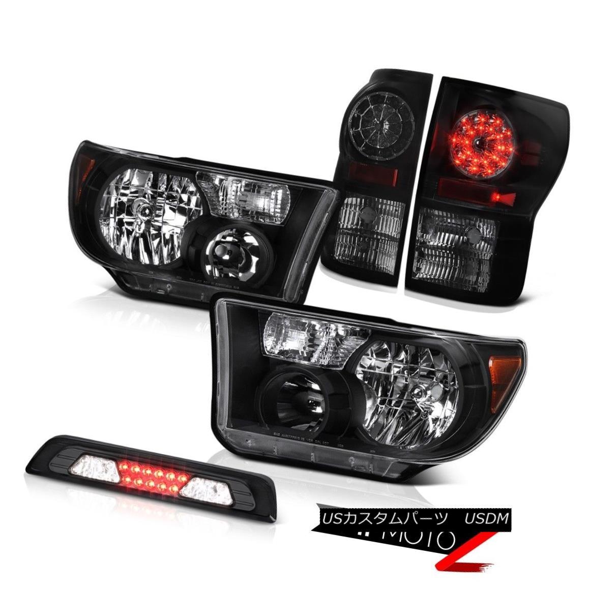 テールライト 07-13 Toyota Tundra SR5 Headlights High Stop Light Taillights SMD