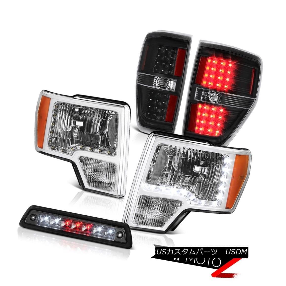 テールライト 2009-2014 F150 FX4 Roof cargo lamp raven black tail lamps headlights led drl LED 2009年から2014年F150 FX4屋根貨物ランプカモメブラックテールランプヘッドライトled drl LED