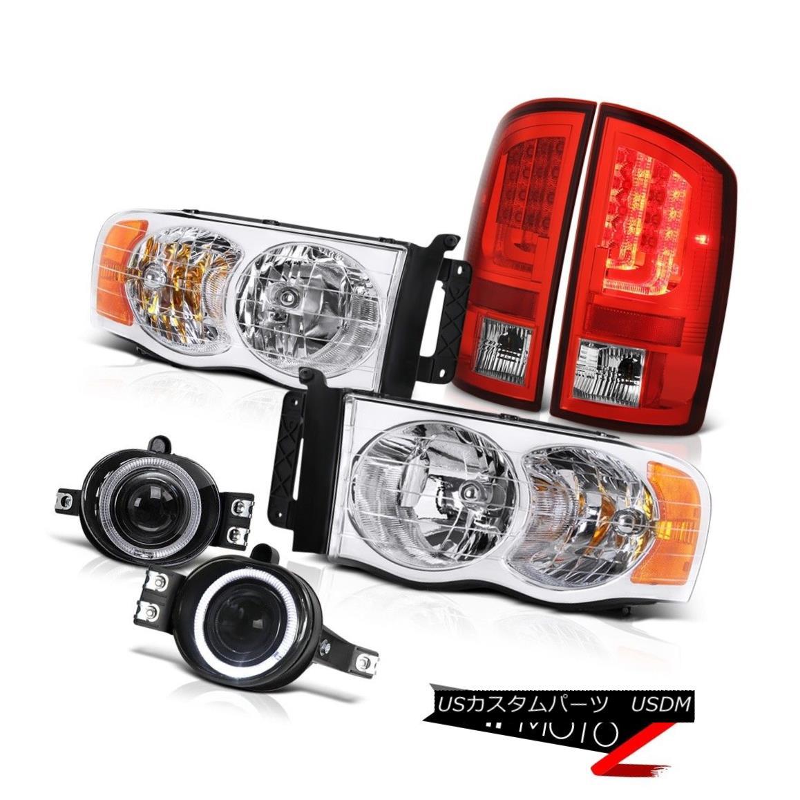 テールライト 2002-2005 Dodge Ram 1500 ST Wine Red Tail Brake Lights Headlamps Fog Replacement 2002-2005ダッジラム1500 STワインレッドテールブレーキライトヘッドランプフォグ交換