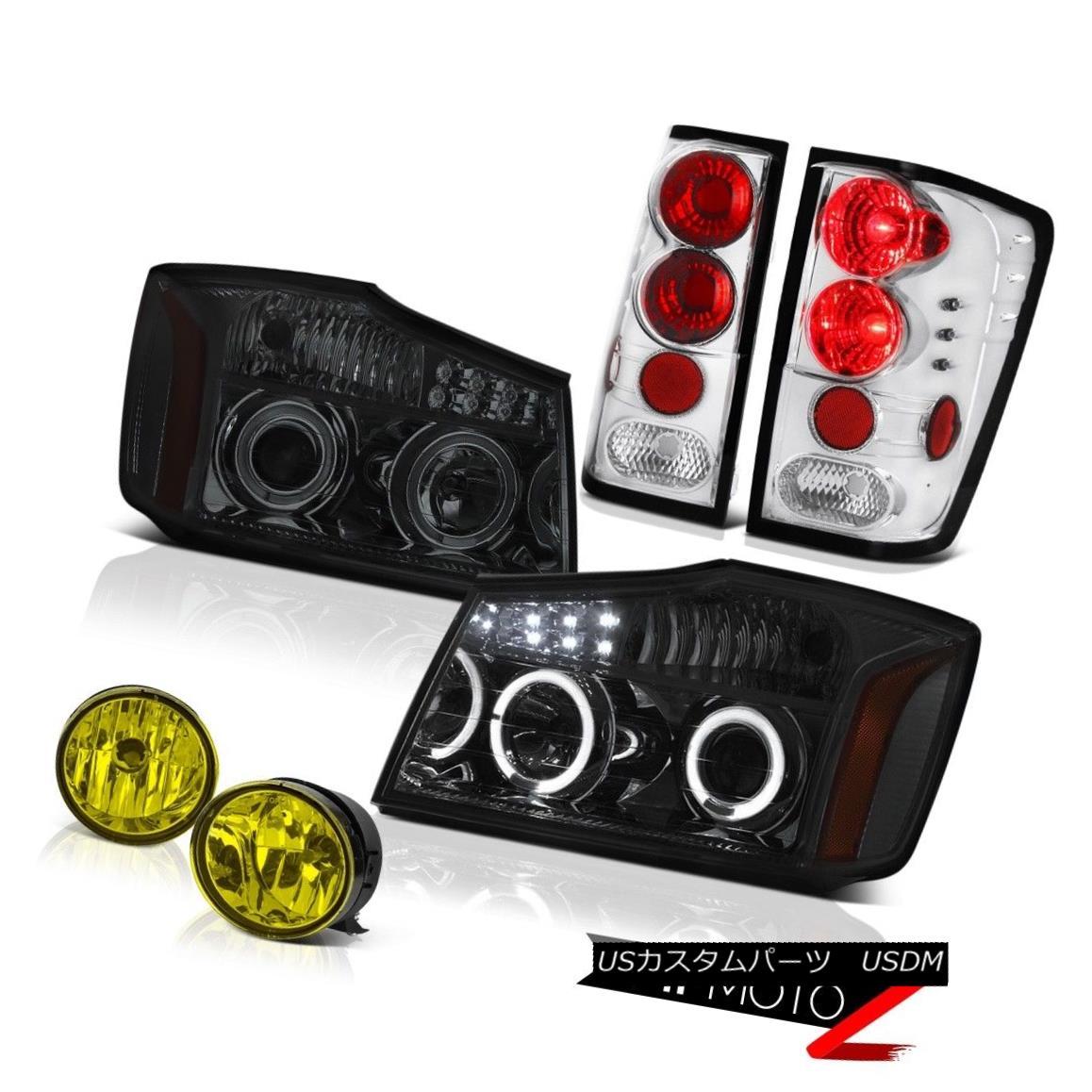 テールライト For 2004-2015 Titan LE Smoke LED Headlight Rear Brake Tail Light Driving Fog 2004年?2015年タイタンLEスモークLEDヘッドライトリアブレーキブレーキテールライトドライビングフォグ