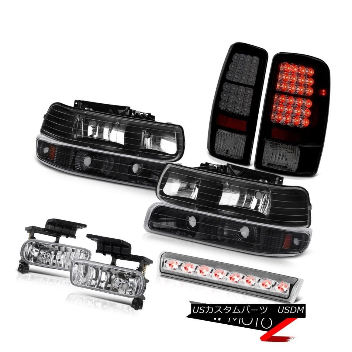 テールライト 2000-2006 Suburban 2500 Z71 Black headlamps tail brake lamps foglights 3rd Light 2000-2006郊外2500 Z71ブラックヘッドランプテールブレーキランプfoglights 3rd Light