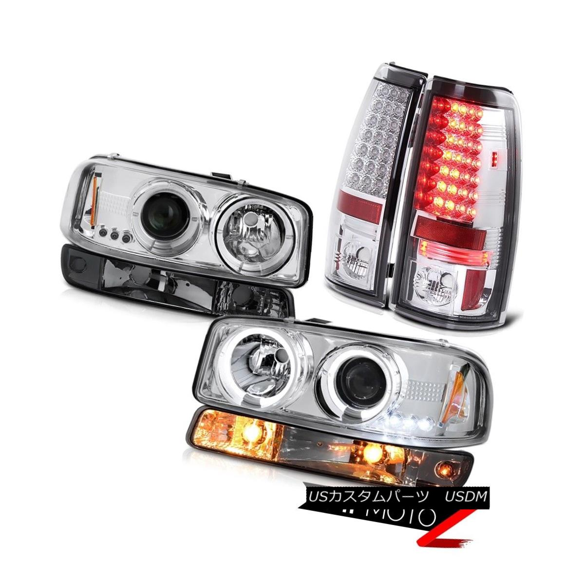 テールライト 1999-2006 Sierra 2500HD Parking brake lights smoked signal light headlamps SMD 1999-2006 Sierra 2500HDパーキングブレーキ灯信号灯ヘッドランプSMD