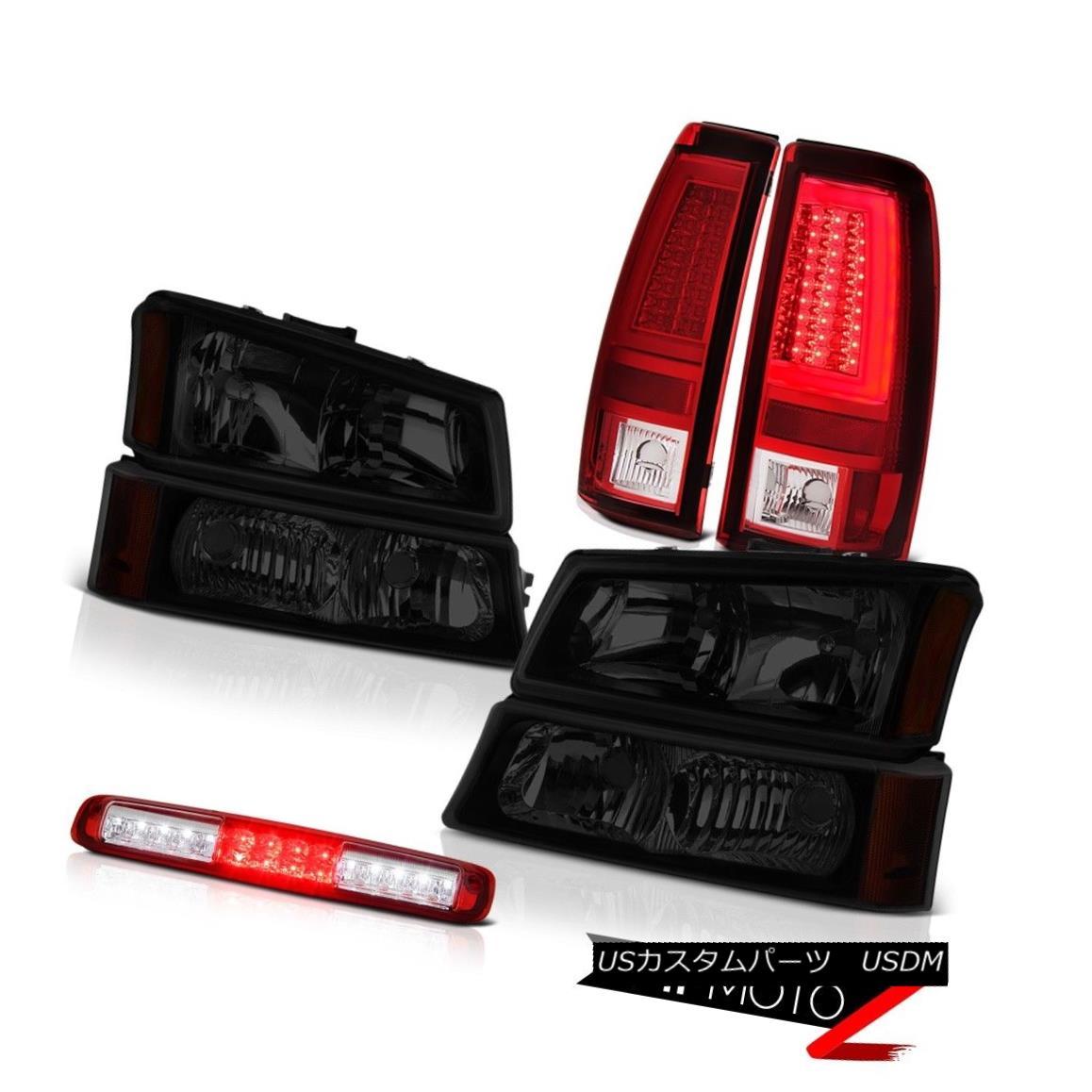 テールライト 2003-2006 Silverado Red Tail Brake Lights Headlamps 3RD Lamp Tron Tube Assembly 2003-2006シルバラードレッドテールブレーキライトヘッドランプ3RDランプトロンチューブアセンブリ