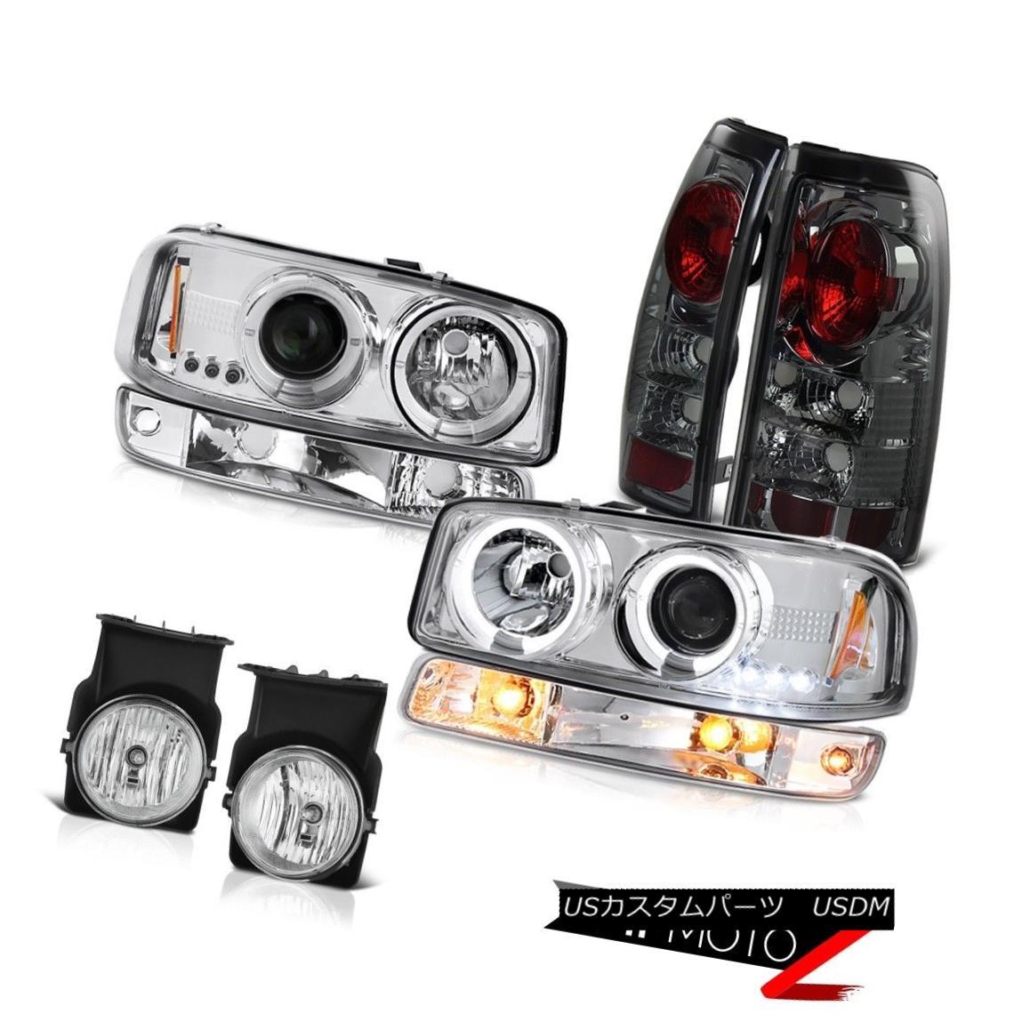 テールライト 2003-2006 Sierra 6.0L Crystal clear fog lamps tail brake signal lamp Headlamps 2003-2006シエラ6.0Lクリスタルクリアフォグランプテールブレーキシグナルランプヘッドランプ