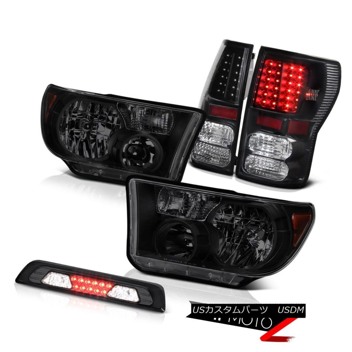 テールライト 07-13 Toyota Tundra Limited Headlamps Smokey 3RD Brake Lamp Tail Lights Assembly 07-13 Toyota Tundra LimitedヘッドランプSmokey 3RDブレーキランプテールライトアセンブリ