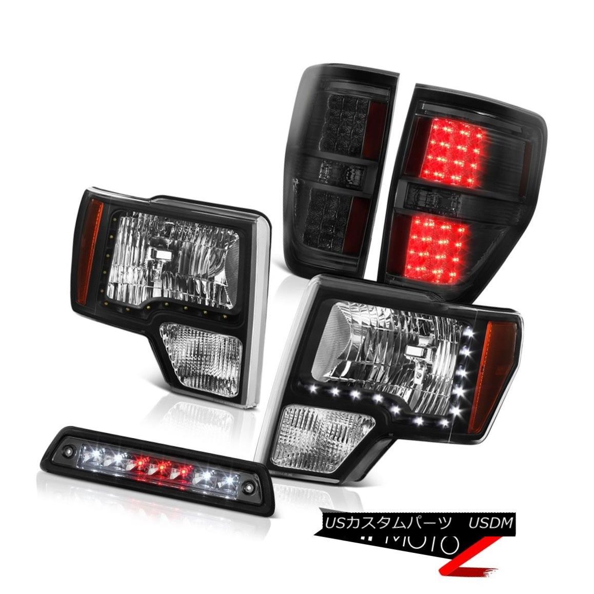 テールライト 09-14 F150 STX 3rd brake light tail lights black headlamps led DRL
