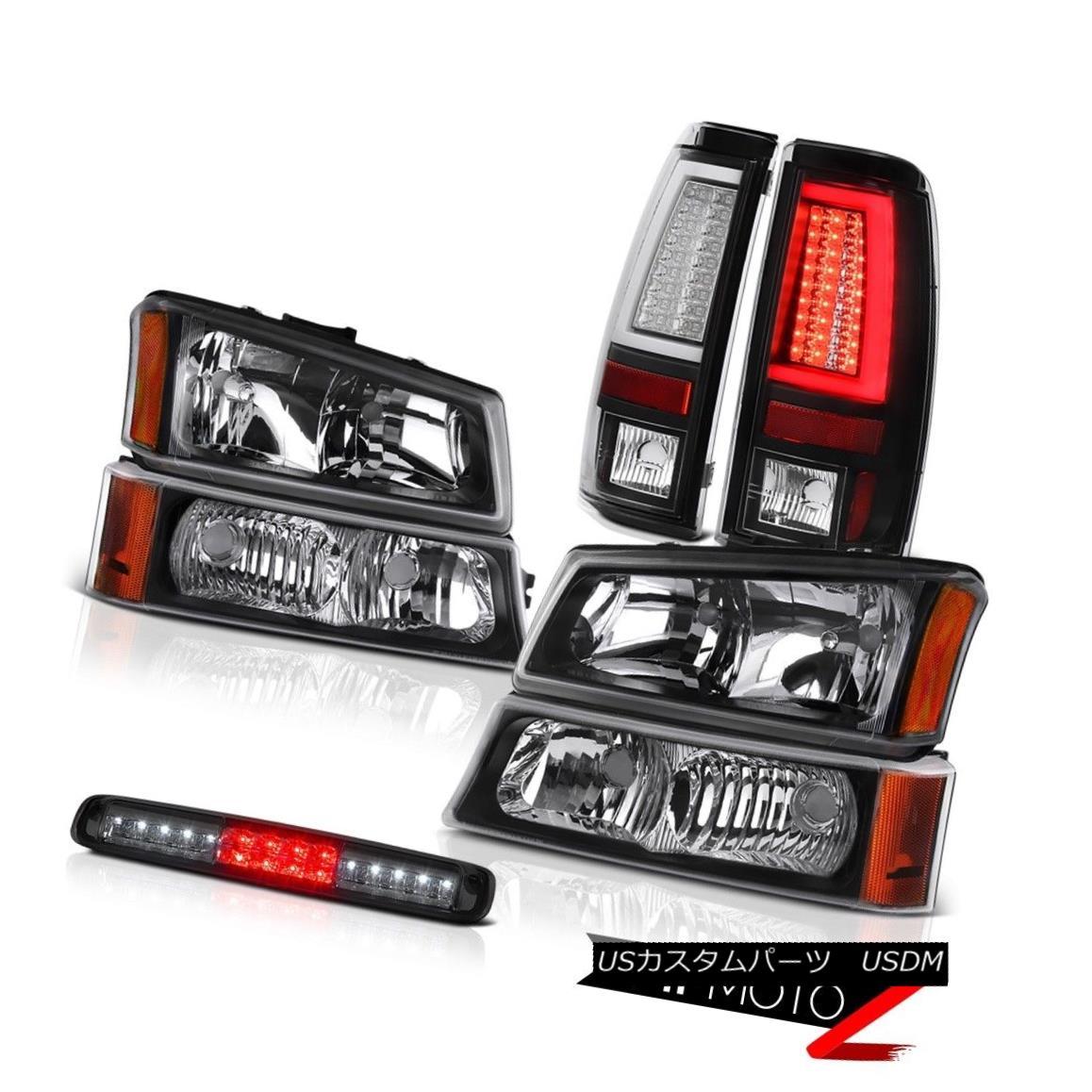テールライト 03-06 Silverado Matte Black Tail Lamps Headlights Roof Brake Lamp