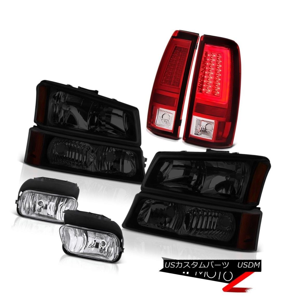テールライト 2003-2006 Silverado Tail Brake Lights Headlamps Crystal Clear Foglights Oe Style 2003-2006 Silveradoテールブレーキライトヘッドランプクリスタルクリアフォグライトオースタイル