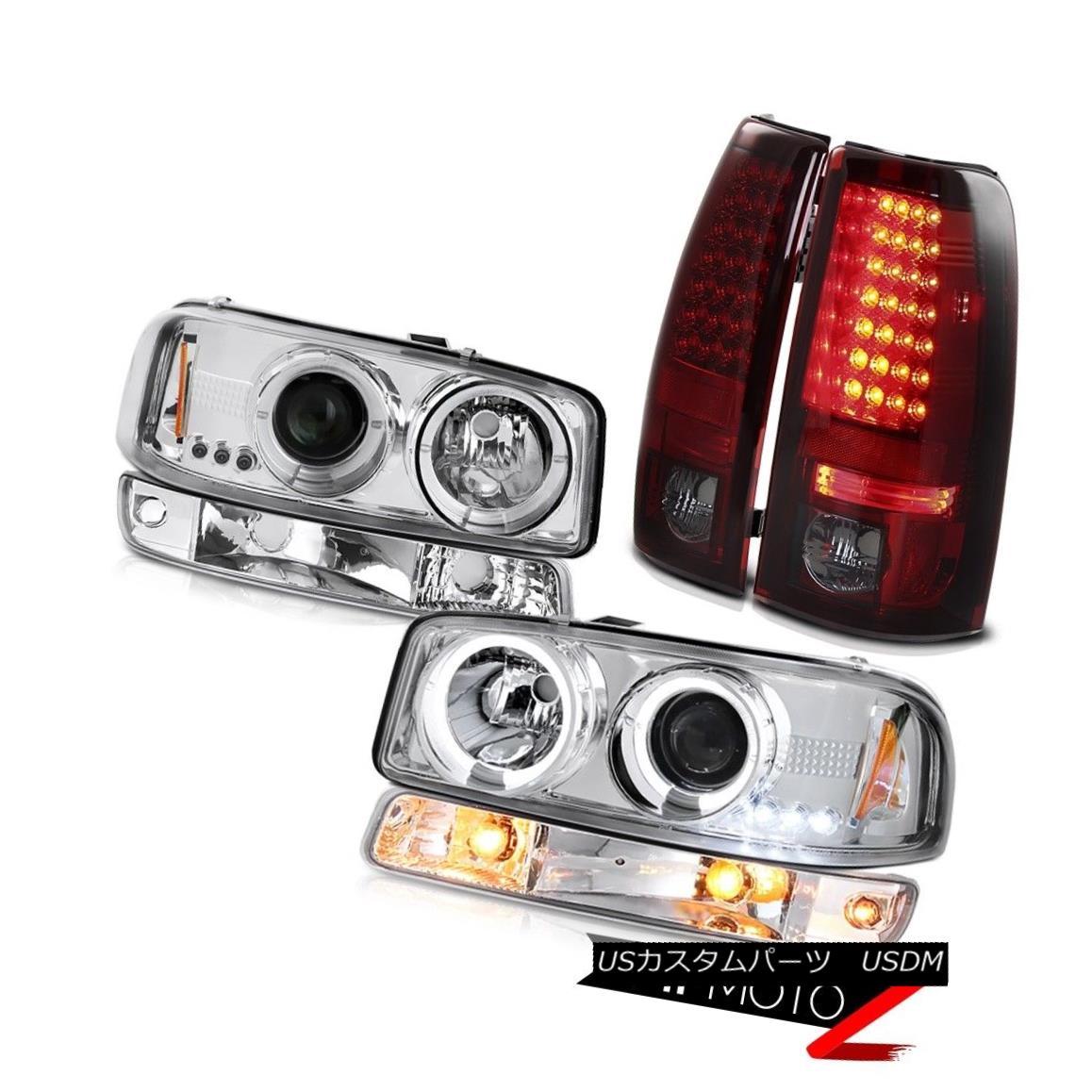 テールライト 1999-2006 Sierra 3500HD Taillights sterling chrome turn signal headlights SMD 1999-2006シエラ3500HDティアライトスチールクロームターンシグナルヘッドライトSMD