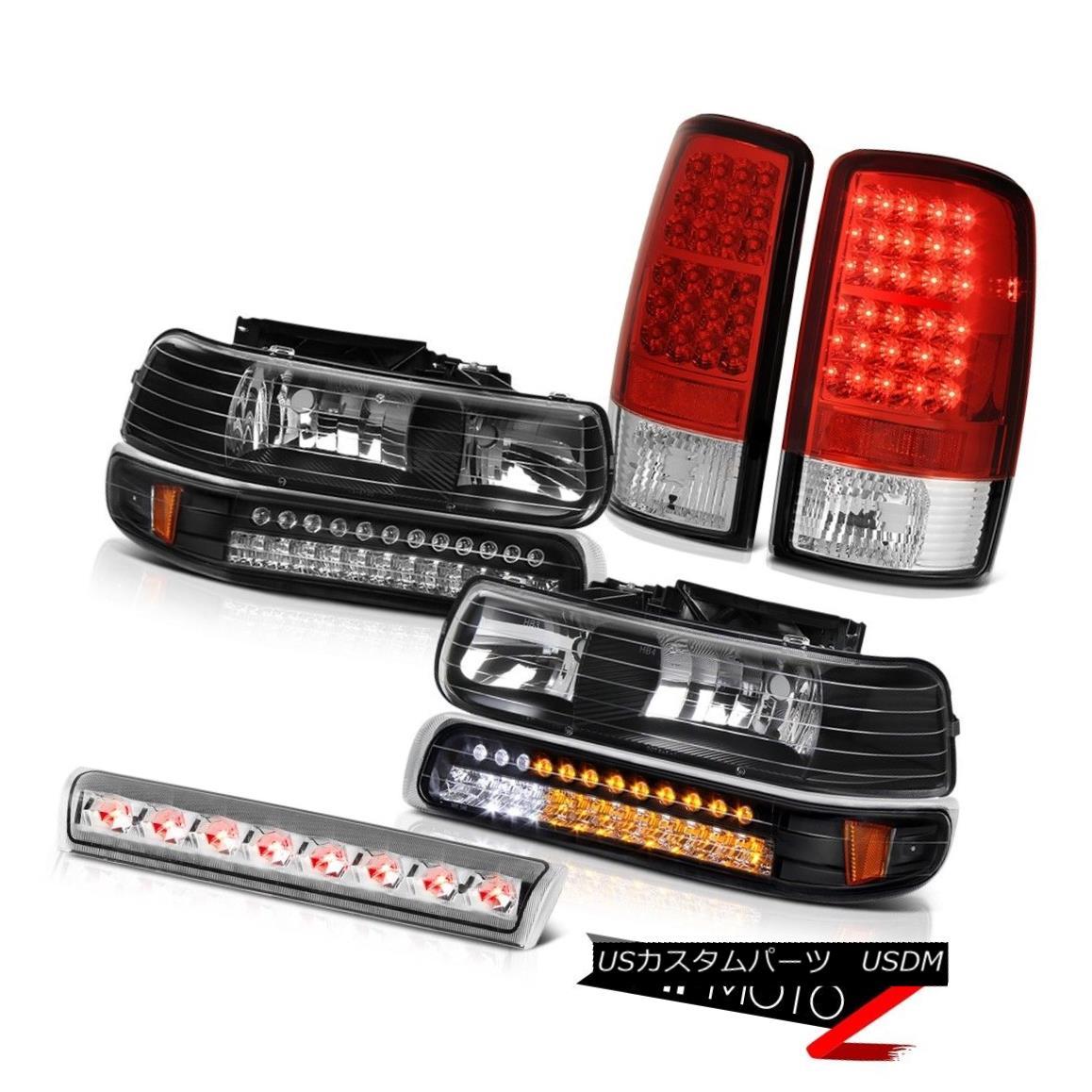 テールライト 2000-2006 Suburban 6.0L Black SMD Parking Headlamps Tail Lights 3rd Brake Cargo 2000-2006郊外6.0LブラックSMDパーキングヘッドランプテールランプ第3ブレーキカーゴ