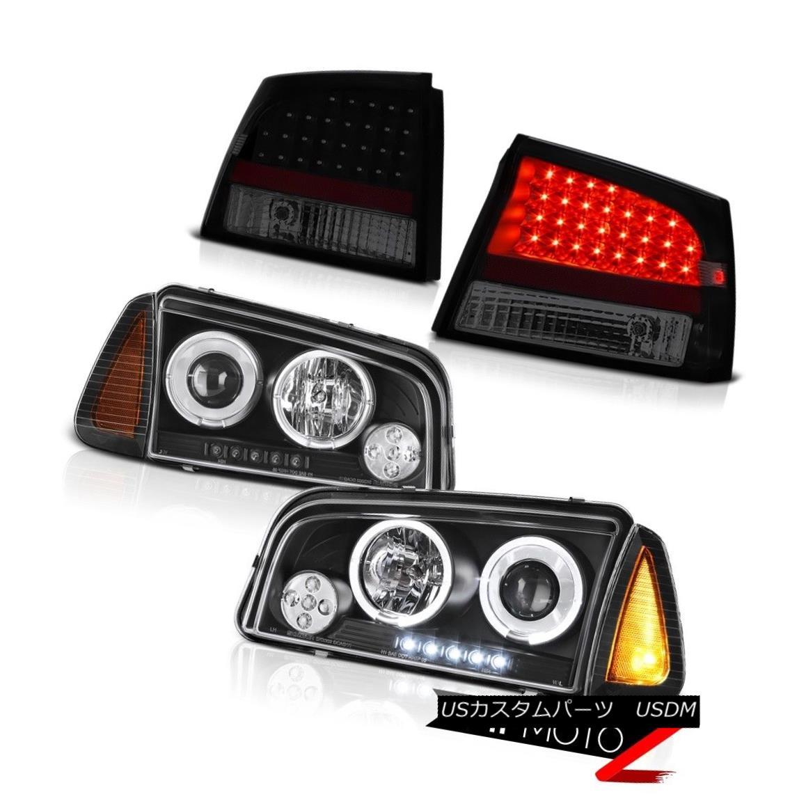 テールライト 2006-2008 Dodge Charger 3.5L Taillamps nighthawk black corner lamp headlights 2006-2008ダッジチャージャー3.5L Taillampsナイトホークブラックコーナーランプヘッドライト