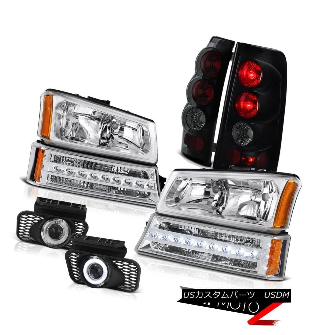 テールライト 03 04 05 06 Silverado Euro chrome fog lights tail brake bumper lamp Headlights 03 04 05 06 Silveradoユーロクロームフォグライトテールブレーキバンパーランプヘッドライト