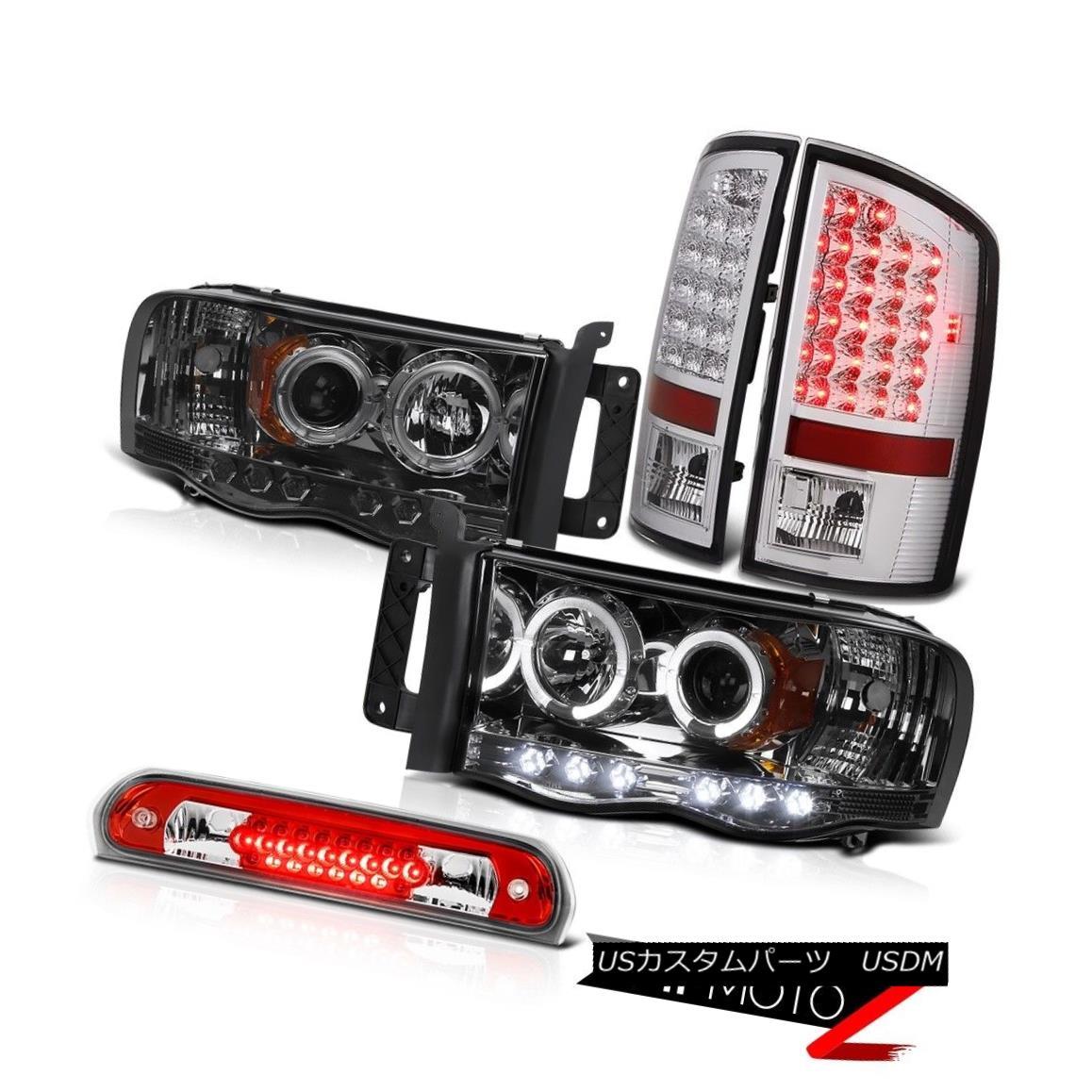 テールライト Dark Halo Projector Headlights Taillight Wine Red Third Brake LED 02-05 Ram 1500 ダークハロープロジェクターヘッドライトテールライトワインレッド第3ブレーキLED 02-05 Ram 1500