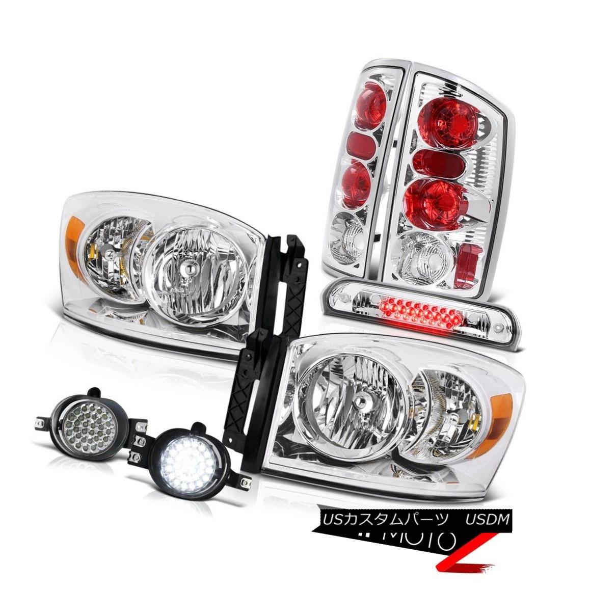 テールライト L+R Headlamps Rear Signal Tail Lights SMD LED Fog 3rd Brake Cargo 2006 Dodge Ram L + RヘッドランプリアシグナルテールライトSMD LEDフォグ第3ブレーキカーゴ2006 Dodge Ram