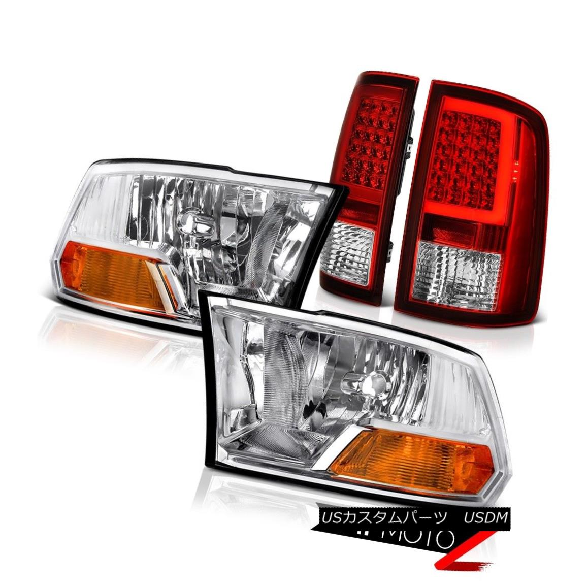 テールライト 09-14 15-18 Dodge RAM 2500 3500 Red Tail Light Factory Style Head Lamp SET PAIR 09-14 15-18ダッジRAM 2500 3500レッドテールライト工場スタイルヘッドランプSET PAIR
