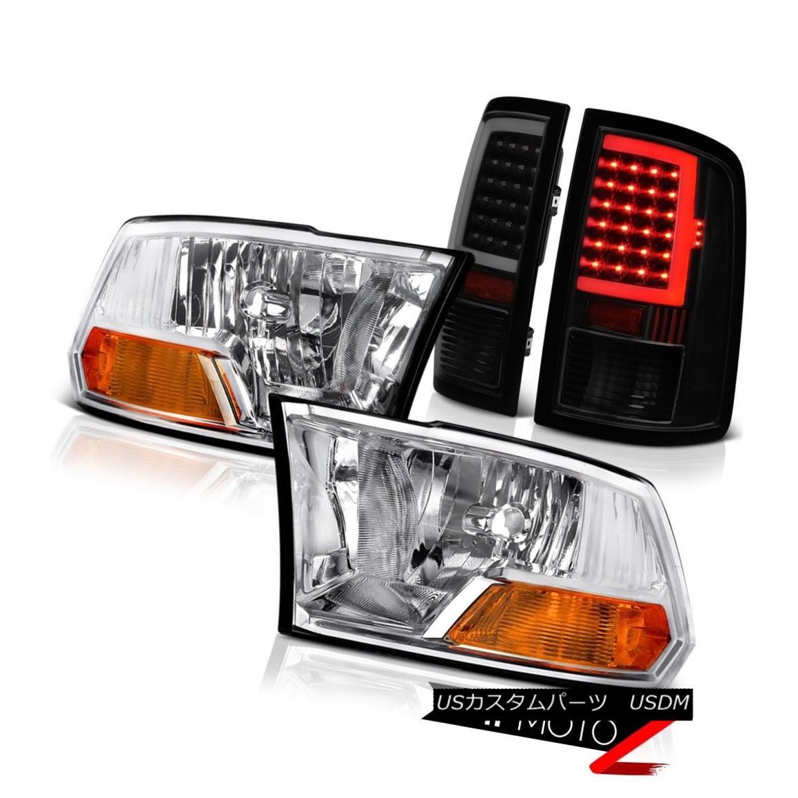 テールライト 2010-2018 Dodge RAM 1500 LED Tail Lights Euro Chrome Factory Style Headlamps SET 2010-2018ダッジRAM 1500 LEDテールライトユーロクローム工場スタイルヘッドランプSET