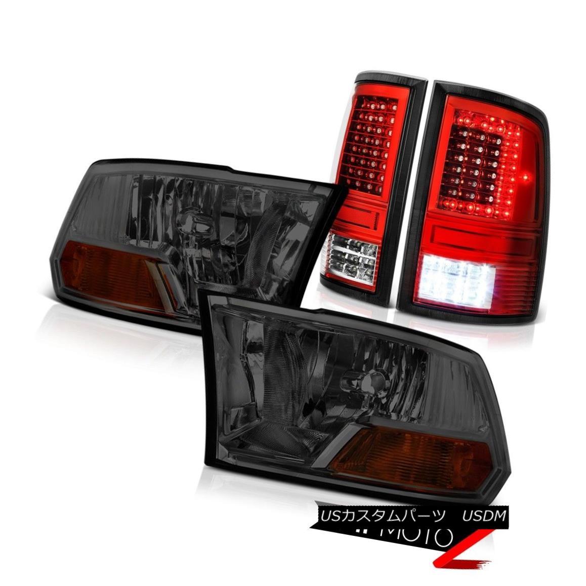 テールライト 2010-2018 Dodge RAM 2500 3500 Red Led Tail Lights Smokey Factory Style Headlamp 2010-2018ダッジRAM 2500 3500レッドテールライトスモーキーファクトリースタイルヘッドライト