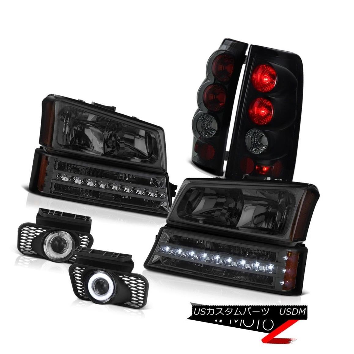 テールライト 03-06 Silverado 2500HD Clear chrome fog lights taillights signal lamp headlamps 03-06 Silverado 2500HDクリアクロムフォグライトテールライトシグナルランプヘッドランプ
