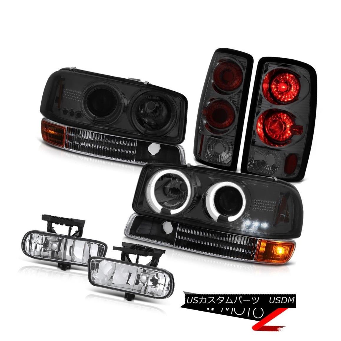 テールライト Halo LED Projector Headlights Signal Tail Light Driving Fog 2000-2006 Yukon 4.8L Halo LEDプロジェクターヘッドライト信号テールライトドライビングフォグ2000-2006ユーコン4.8L