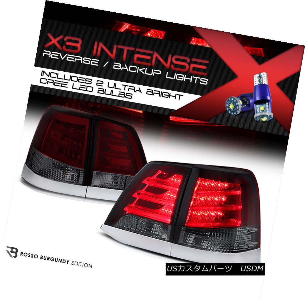テールライト High-Power CREE Reverse 08-11 Toyota Land Cruiser RED/SMOKE LED Tail Brake Lamps ハイパワークリーリバース08-11トヨタランドクルーザーRED / SMOKE LEDテールブレーキランプ