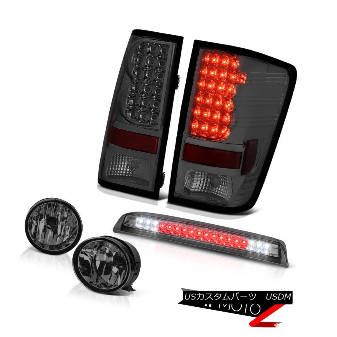 テールライト For 04-15 Titan SE Tint Rear Signal Tail Light Bumper Fog Smoke Third Brake LED 04-15タイタンSEティントリアシグナルテールライトバンパーフォグスモーク第3ブレーキLED