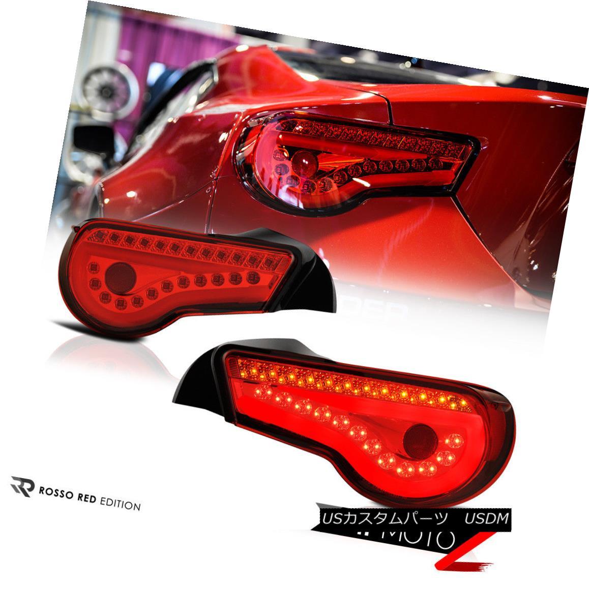 テールライト RED/CLEAR Sequential LED Turn Signal Lamp L+R Brake Tail Light 2013-2016 FRS/BRZ RED / CLEARシーケンシャルLEDターンシグナルランプL + Rブレーキテールライト2013-2016 FRS / BRZ