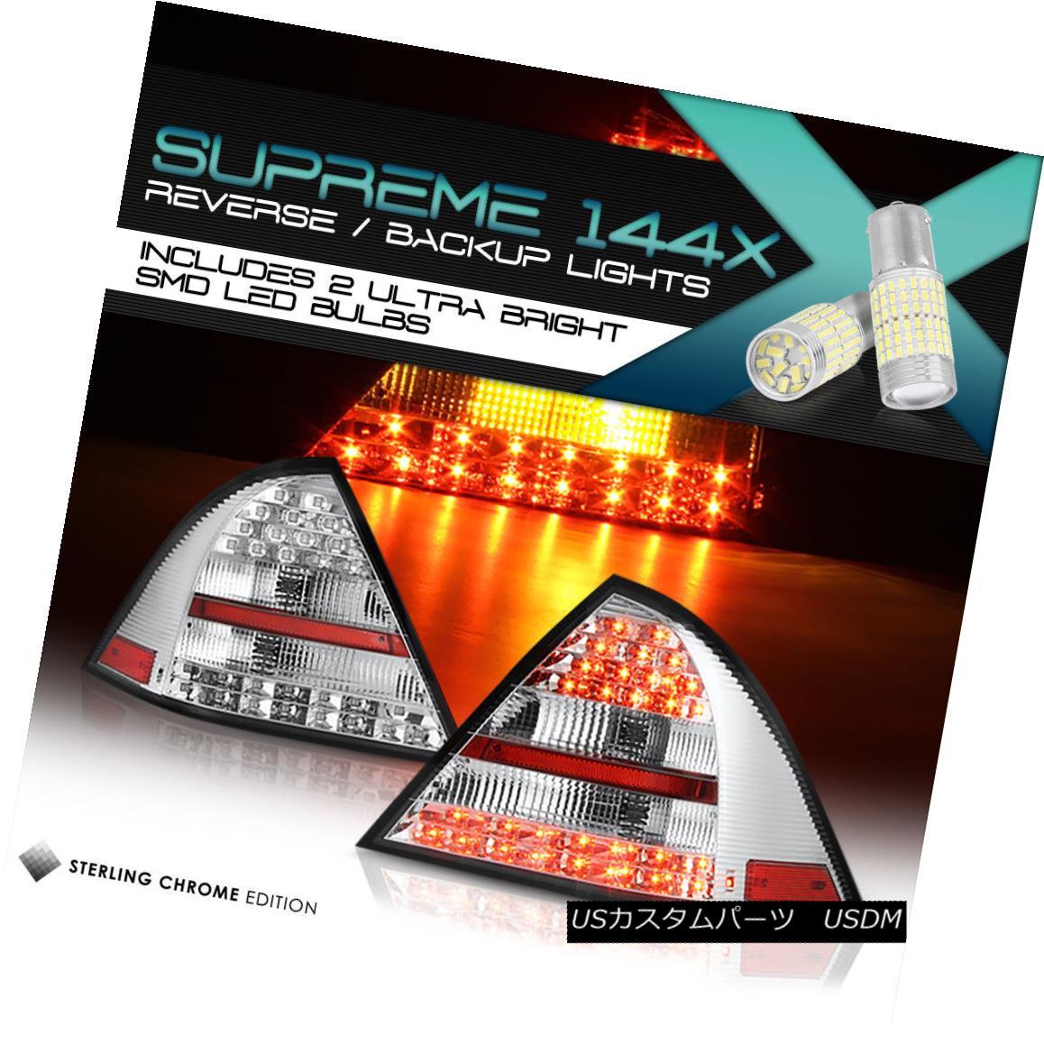 テールライト {Full SMD Reverse} 05-07 M-BENZ C-CLASS C320 C230 Chrome Diamond LED Tail Lights {フルSMDリバース} 05-07 M-BENZ C-CLASS C320 C230クロームダイヤモンドLEDテールライト