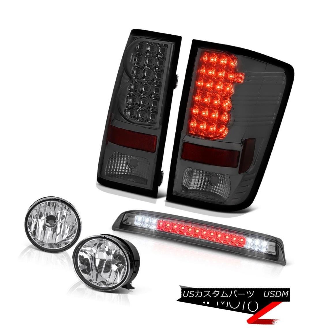 テールライト Tinted LED Tail Lights Clear Bumper Fog For 04-15 09 2015 Titan SV Third Brake タイテッドLEDテールライトクリアバンパーフォグ04-15 09 2015 Titan SV Third Brake