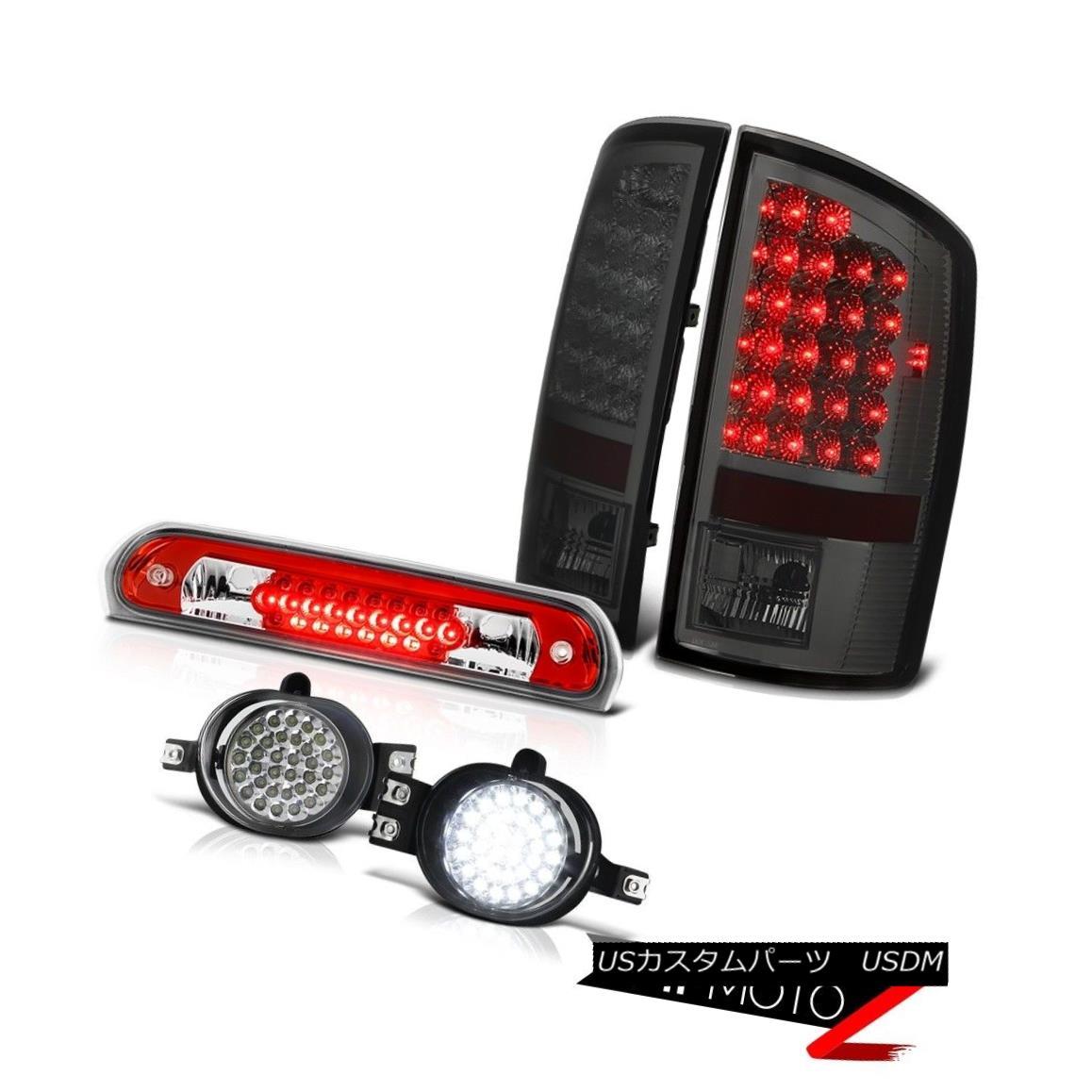 テールライト 2006 Dodge Ram PowerTech L.E.D Tail Lights Smoke LED Bumper Fog 3rd Brake Red 2006 Dodge Ram PowerTech L.E.DテールライトスモークLEDバンパーフォグ3rdブレーキ赤