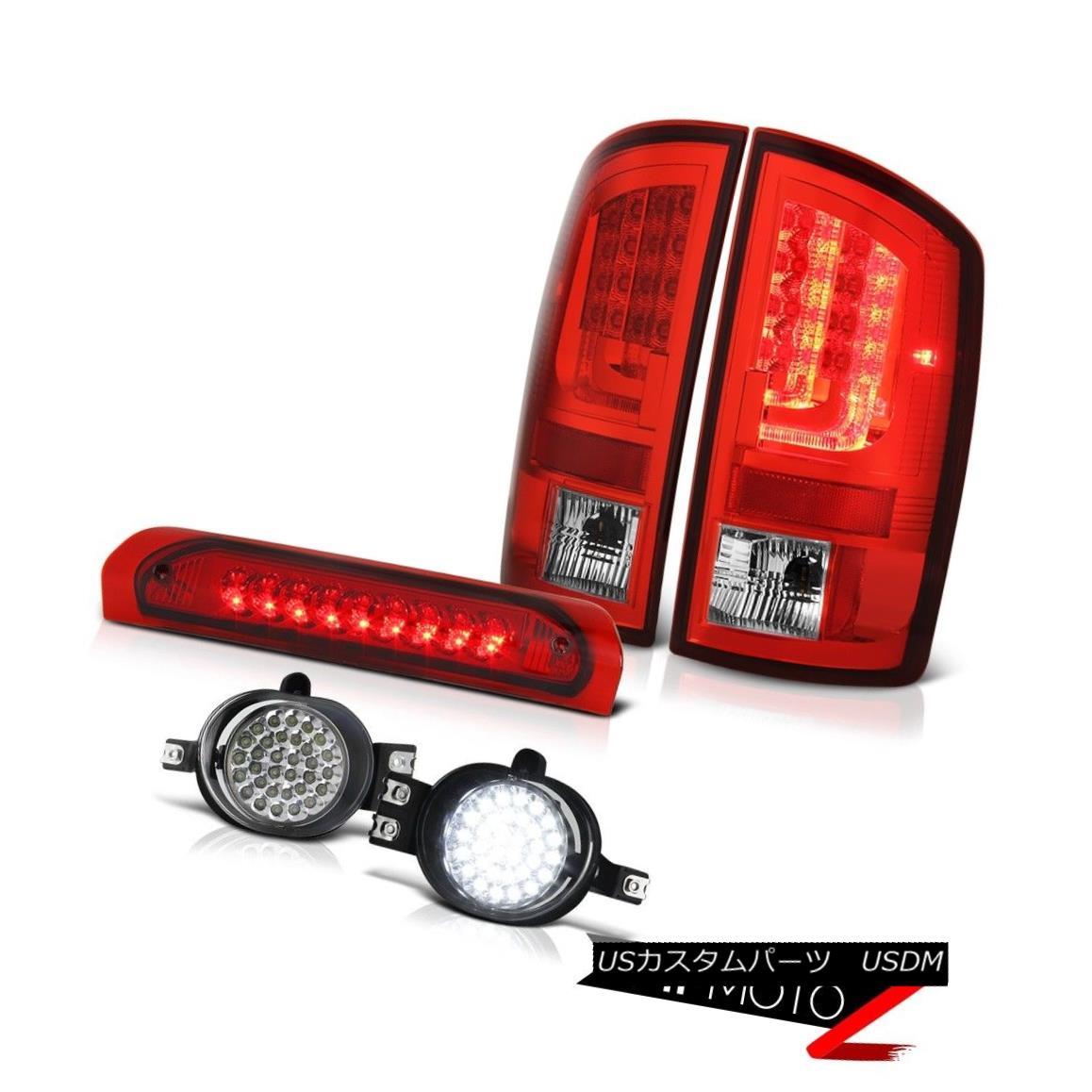テールライト 07-08 Dodge Ram 1500 4.7L Tail Lights Euro Chrome Fog Roof Cab Lamp Tron STyle 07-08ダッジラム1500 4.7Lテールランプユーロクロームフォグ屋根キャブランプトロンSTyle