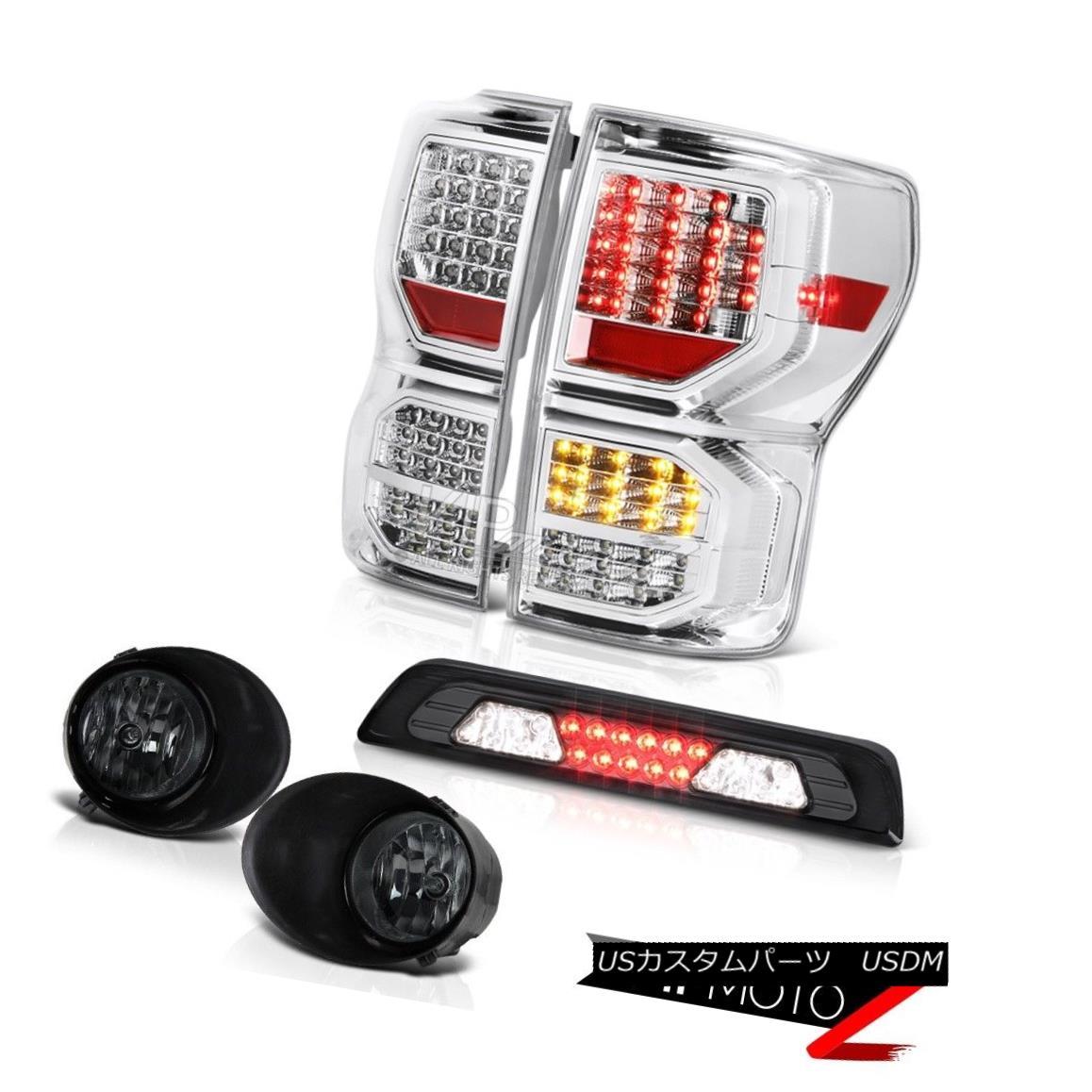 テールライト 07-13 Toyota Tundra Limited Rear Brake Lamps Smoked Fog Third Lamp