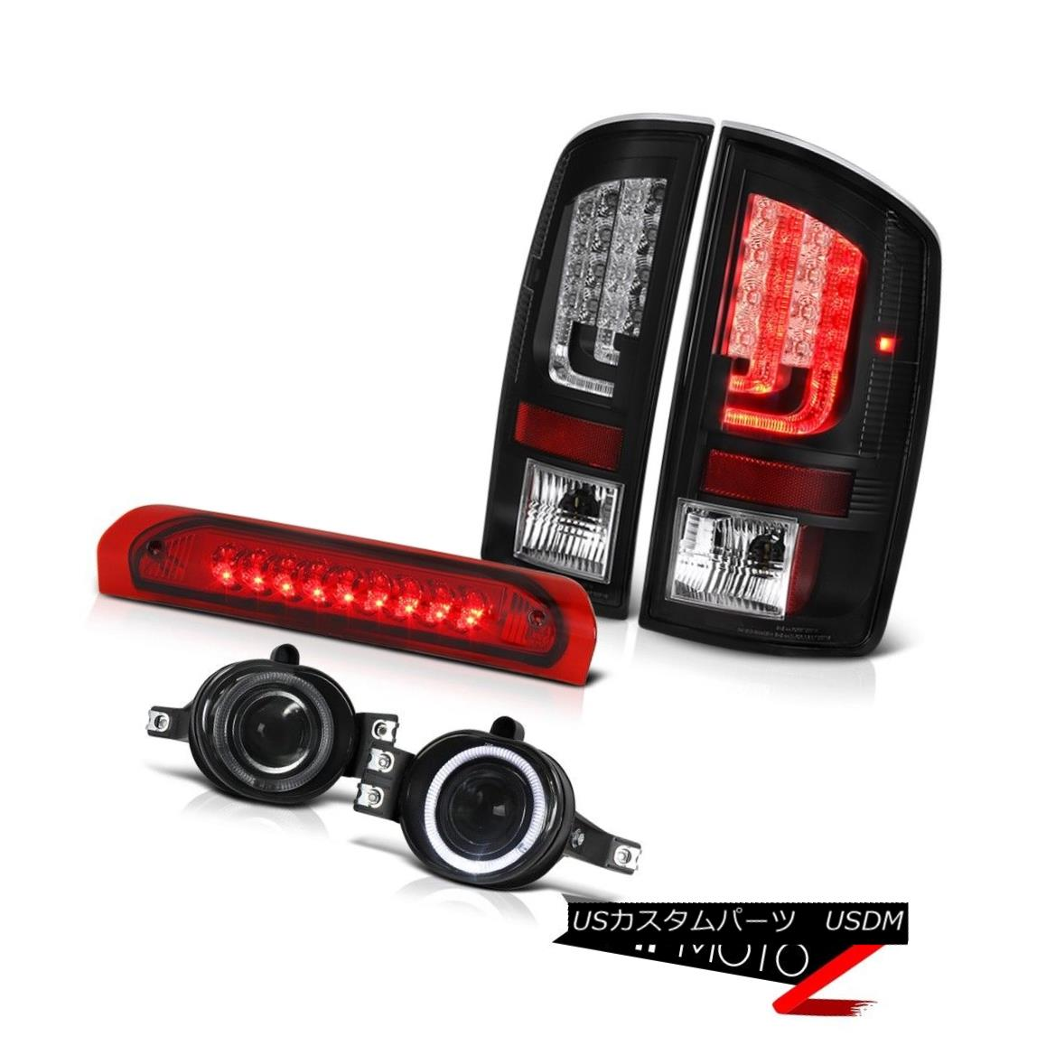 テールライト 07-08 Dodge Ram 1500 ST Black Tail Brake Lights Fog High STop Light