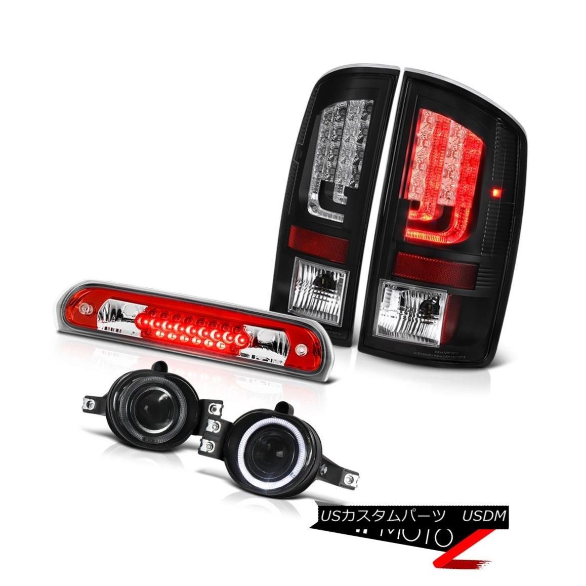テールライト 07-08 Dodge Ram 1500 5.7L Black Tail Lights Fog Red Roof Cab Light