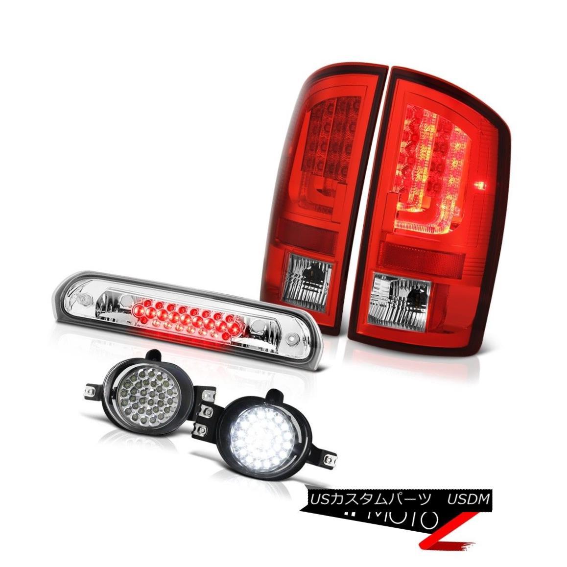 テールライト 2007-2008 Dodge Ram 1500 3.7L Red Tail Lamps Fog Roof Brake Light OLED Neon Tube 2007-2008ダッジラム1500 3.7LレッドテールランプフォグルーフブレーキライトOLEDネオンチューブ