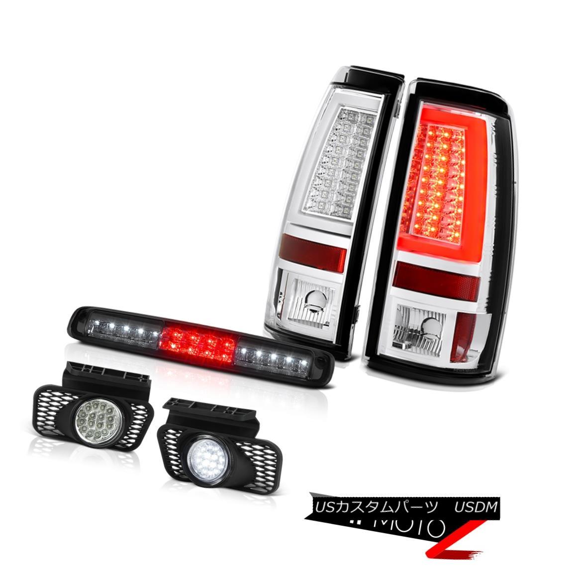 テールライト 03-06 Silverado 3500Hd Euro Chrome Taillamps Smoked 3RD Brake Lamp Fog Lamps DRL 03-06 Silverado 3500Hdユーロクロームタイヤルンプスモーク3RDブレーキランプフォグランプDRL