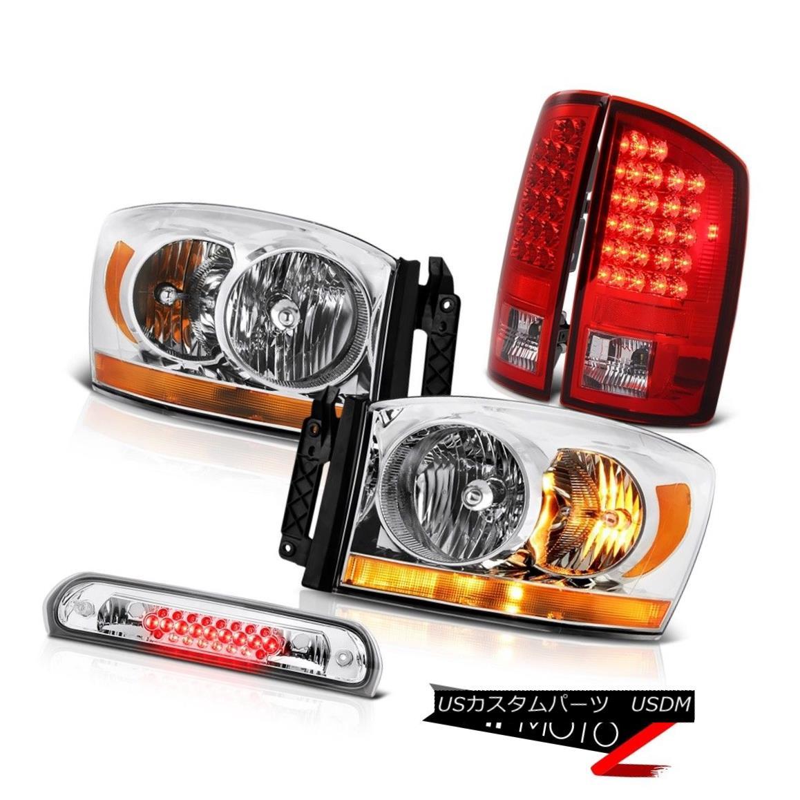 テールライト 2006 Ram St Clear Chrome Headlights 3RD Brake Lamp Bloody Red Taillamps LED SMD 2006 Ram Stクリアクロームヘッドライト3RDブレーキランプBloody Red Taillamps LED SMD