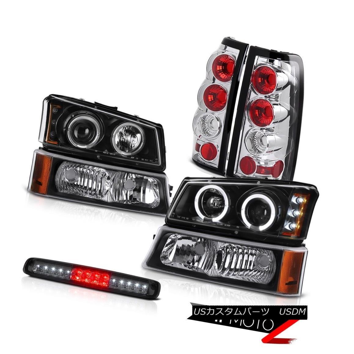 テールライト 03-06 Silverado Nighthawk Black Bumper Light High Stop Lamp Headlamps Tail Lamps 03-06シルバラードナイトホークブラックバンパーライトハイストップランプヘッドランプテールランプ