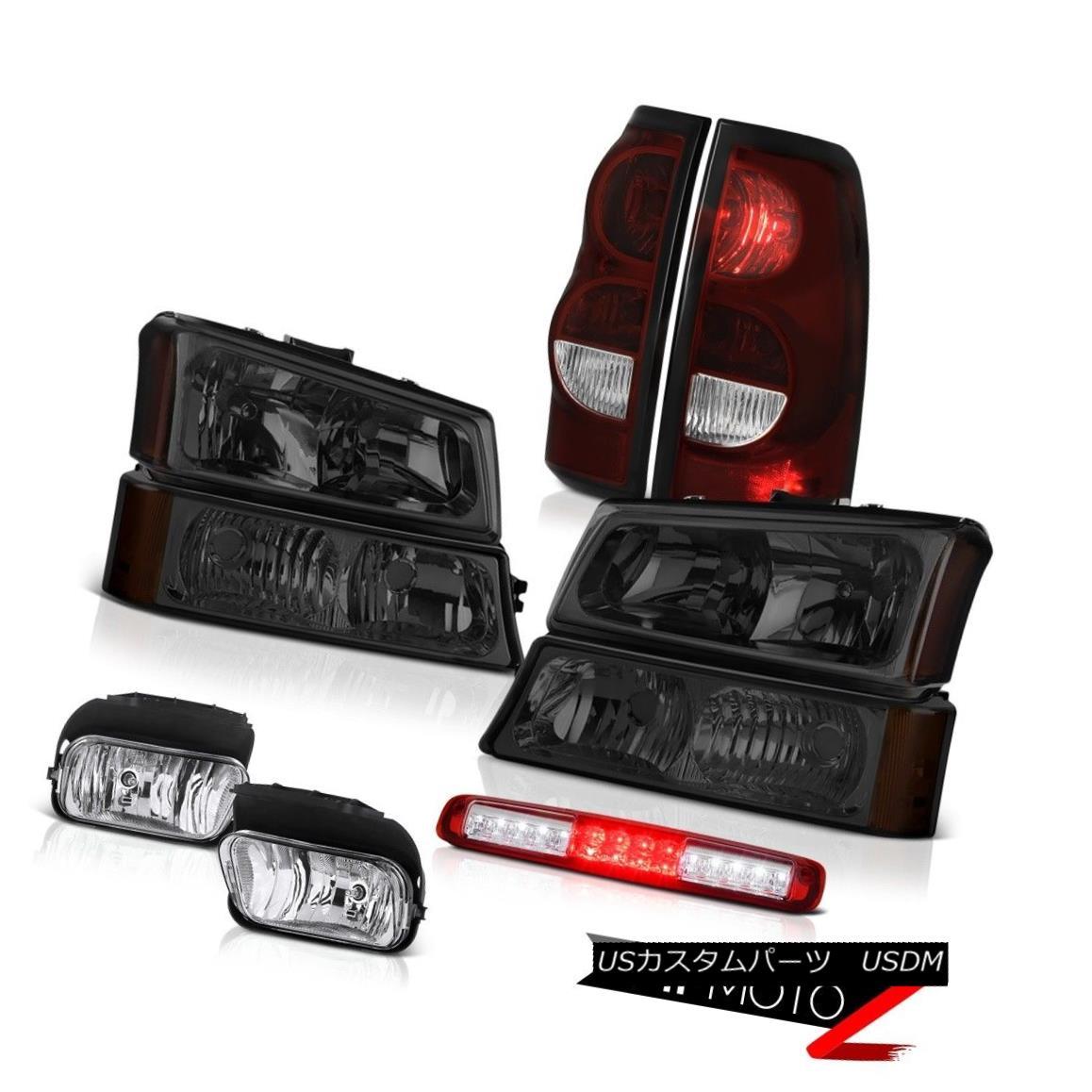 テールライト 03-06 Chevy Silverado Red 3RD Brake Light Fog Lights Smoke Taillamps Headlights 03-06 Chevy Silverado Red 3RDブレーキライトフォグライトスモークタイルランプヘッドライト